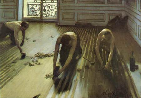 Gustave Caillebotte The Floor Strippers oil painting image