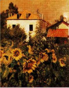 Gustave Caillebotte Sunflowers, Garden at Petit Gennevilliers oil painting image