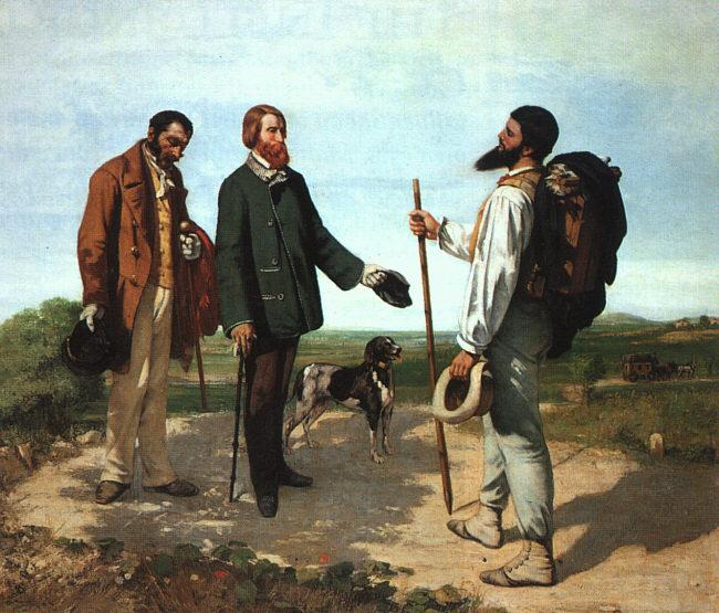 Gustave Courbet Bonjour Monsieur Courbet oil painting picture