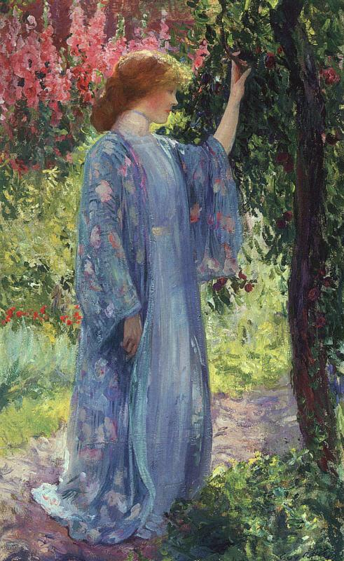 Guy Rose The Blue Kimono oil painting image