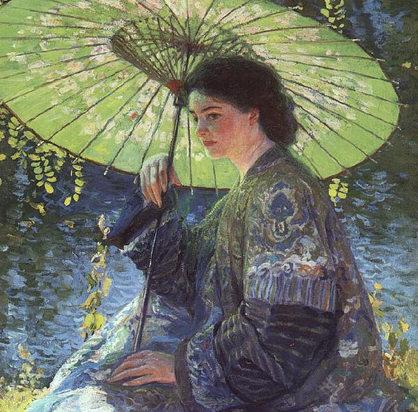 Guy Rose The Green Parasol France oil painting art