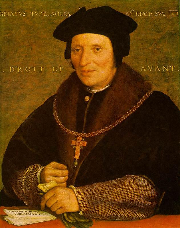 HOLBEIN, Hans the Younger Sir Brian Tuke af oil painting image