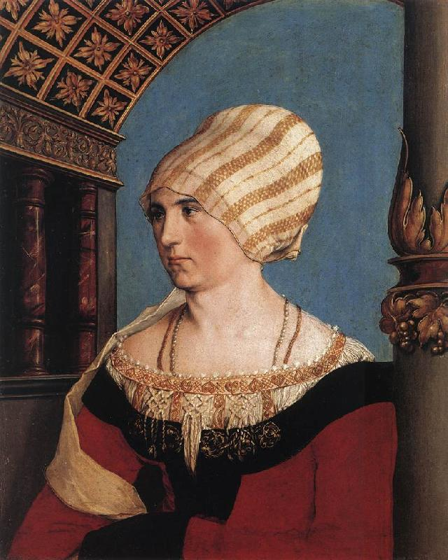 HOLBEIN, Hans the Younger Portrait of the Artist's Wife oil painting image