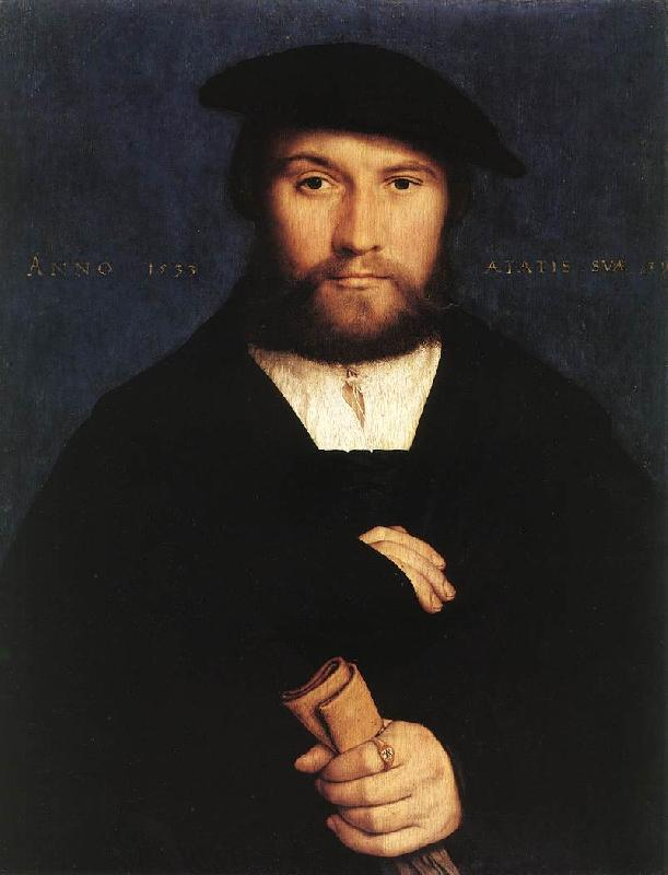 HOLBEIN, Hans the Younger Portrait of a Member of the Wedigh Family sf oil painting image