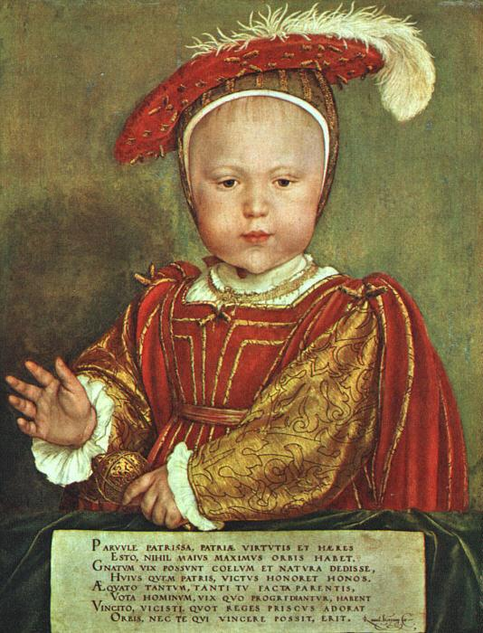 Hans holbein edward vi as a child oil painting image