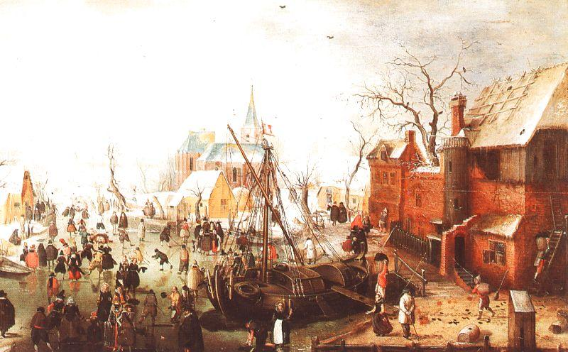 Hendrick Avercamp Winter Scene at Yselmuiden France oil painting art