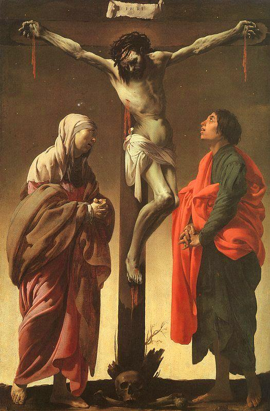 Hendrick Terbrugghen The Crucifixion with the Virgin and St.John oil painting image