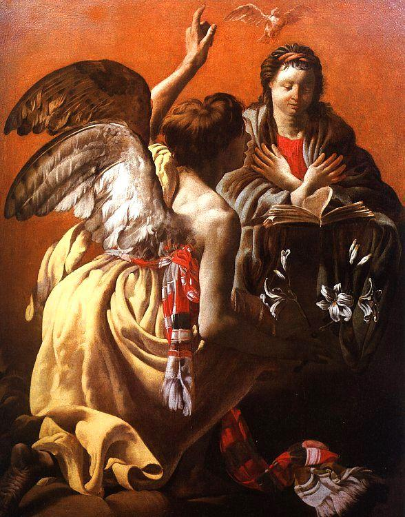 Hendrick Terbrugghen The Annunciation to the Virgin oil painting image