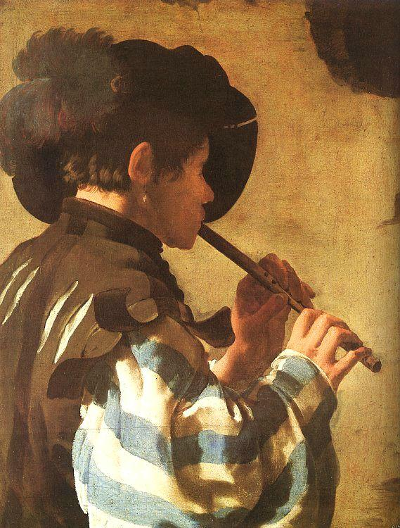 Hendrick Terbrugghen The Flute Player oil painting image