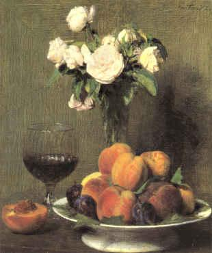 Henri Fantin-Latour Still Life with Roses and Wine  6 oil painting image
