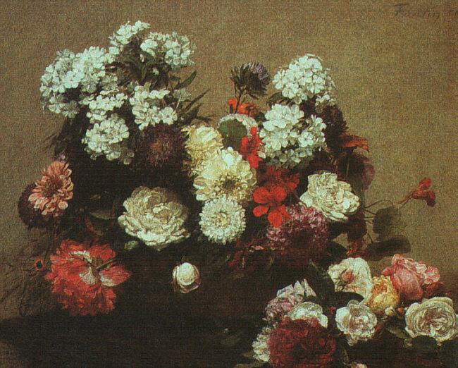 Henri Fantin-Latour Still Life with Flowers  2 oil painting image