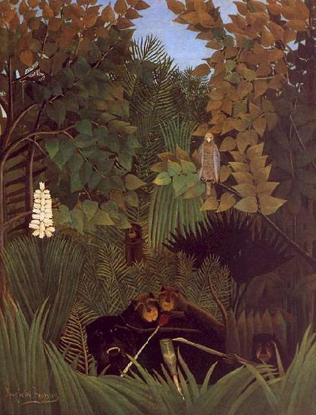 Henri Rousseau The Monkeys France oil painting art