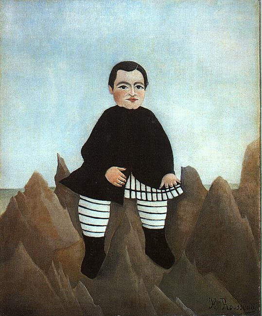 Henri Rousseau Boy on the Rocks oil painting image