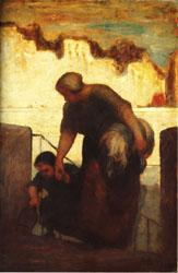 Honore  Daumier The Laundress oil painting image