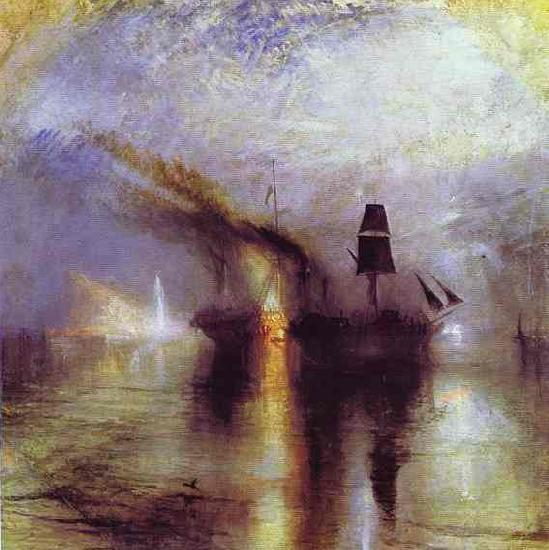 J.M.W. Turner Peace - Burial at Sea. oil painting image