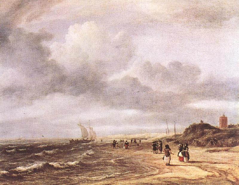 Jacob van Ruisdael The Shore at Egmond-an-Zee oil painting image