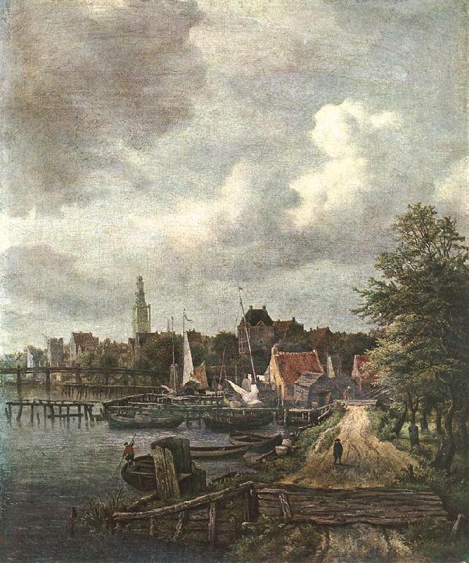 Jacob van Ruisdael View of Amsterdam oil painting image