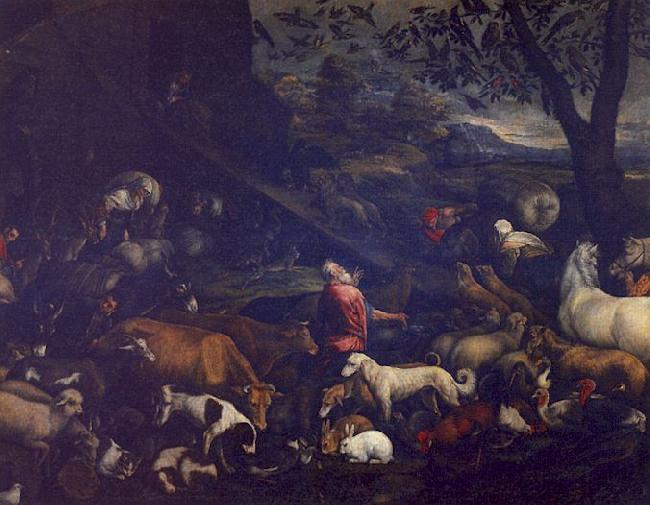Jacopo Bassano The Animals Entering the Ark oil painting image