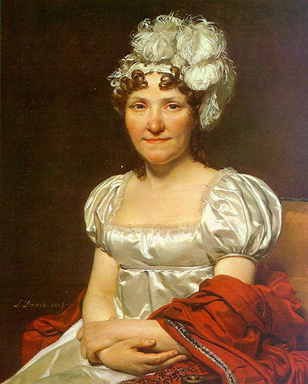 Jacques-Louis  David Portrait of Charlotte David oil painting image