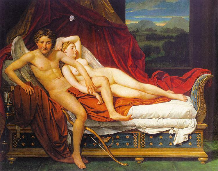 Jacques-Louis  David Cupid and Psyche1 oil painting image