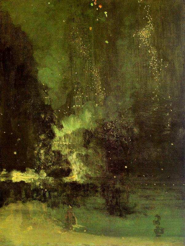 James Abbott McNeil Whistler Nocturne in Black and Gold oil painting image