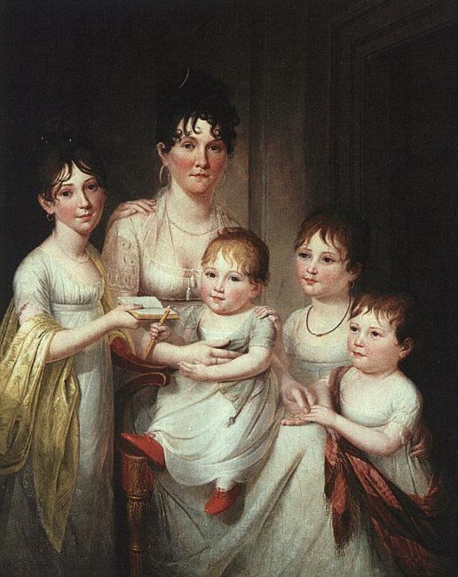 James Peale Madame Dubocq and her Children France oil painting art