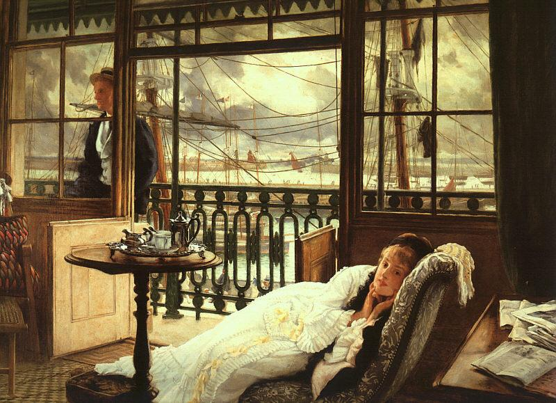 James Tissot A Passing Storm oil painting image