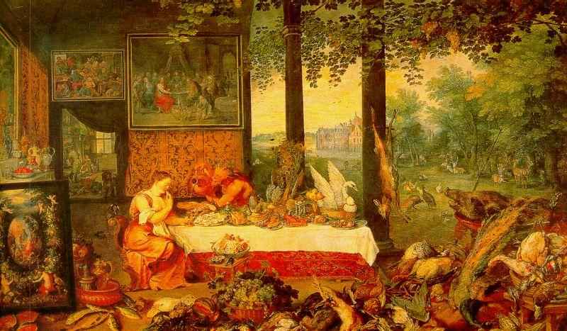 Jan Brueghel The Sense of Taste oil painting image