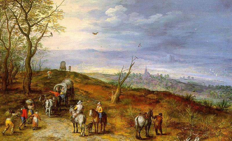Jan Brueghel Wayside Encounter oil painting image