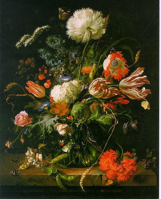 Jan Davidz de Heem Vase of Flowers 001 oil painting image