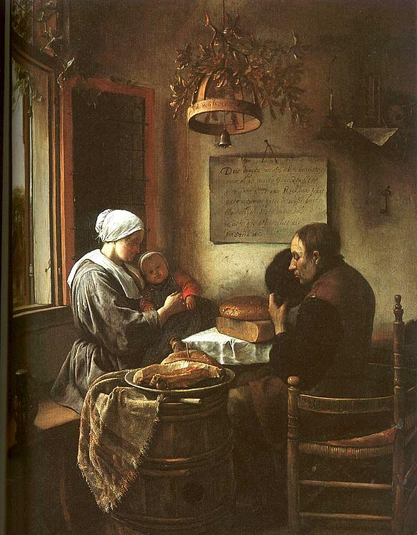 Jan Steen Grace Before a Meal France oil painting art