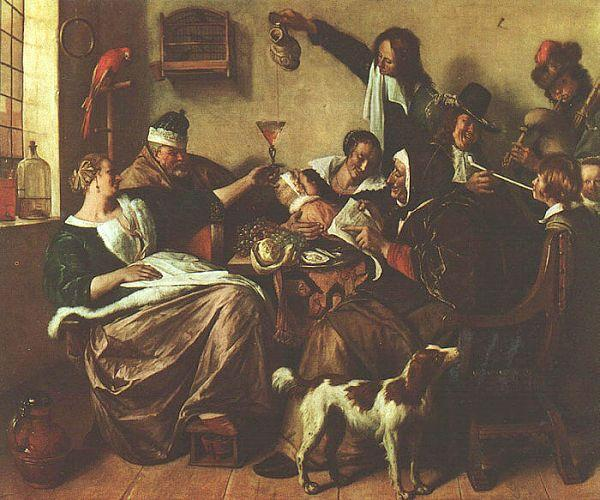 Jan Steen The Artist's Family France oil painting art