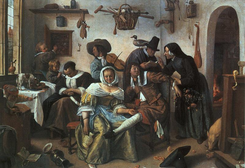 Jan Steen Beware of Luxury France oil painting art