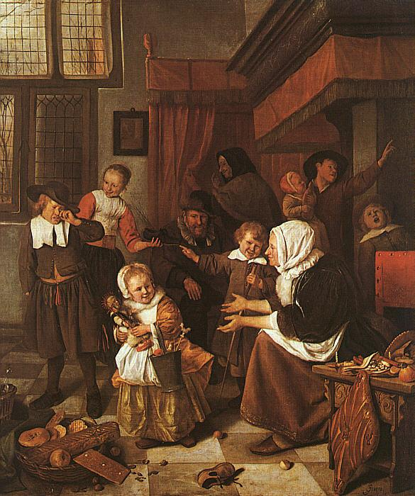 Jan Steen The Feast of St.Nicholas France oil painting art