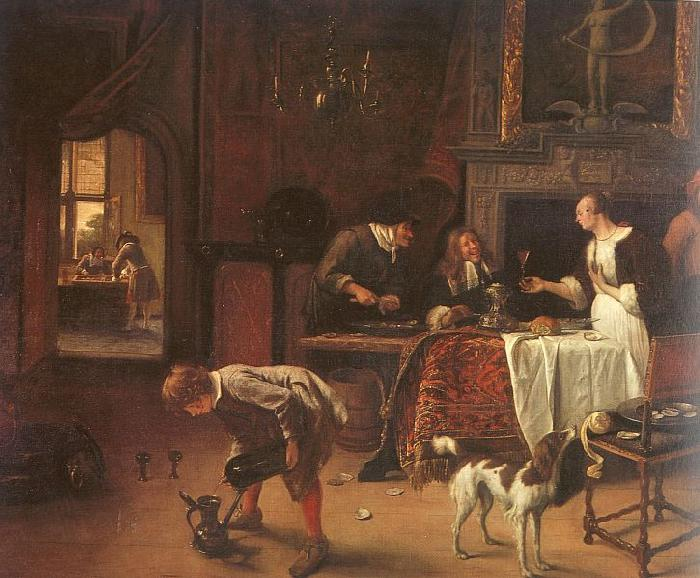 Jan Steen Easy Come, Easy Go France oil painting art