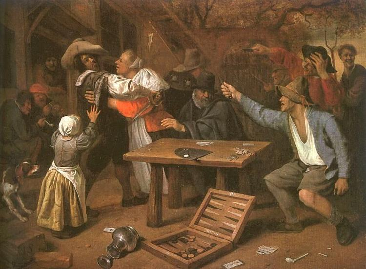 Jan Steen Card Players Quarreling France oil painting art