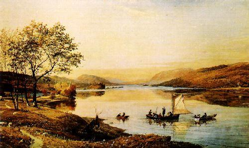 Jasper Cropsey Greenwood Lake France oil painting art