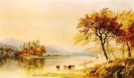Jasper Cropsey River Isle France oil painting art