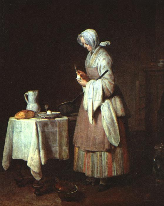 Jean Baptiste Simeon Chardin The Attentive Nurse oil painting image