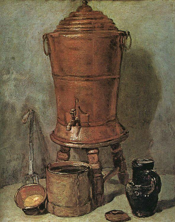 Jean Baptiste Simeon Chardin The Copper Cistern oil painting image
