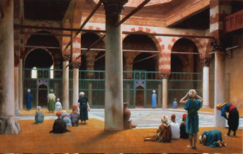 Jean Leon Gerome Interior of a Mosque  7 oil painting image