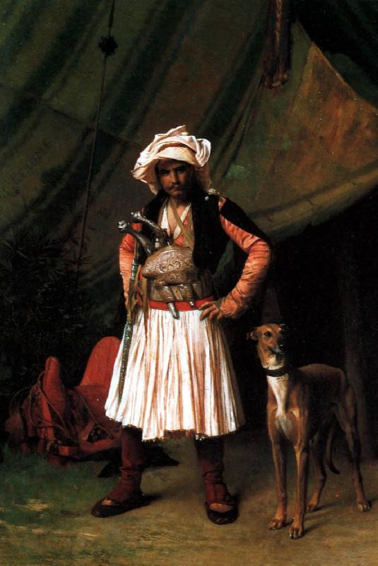 Jean Leon Gerome Bashi-Bazouk and his Dog oil painting image