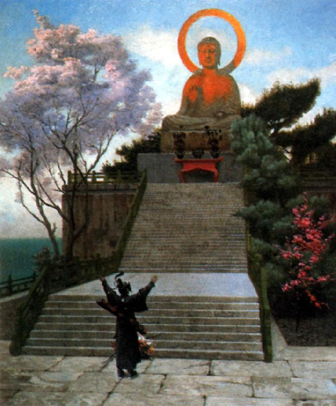 Jean Leon Gerome A Japanese Imploring a Divinity oil painting image