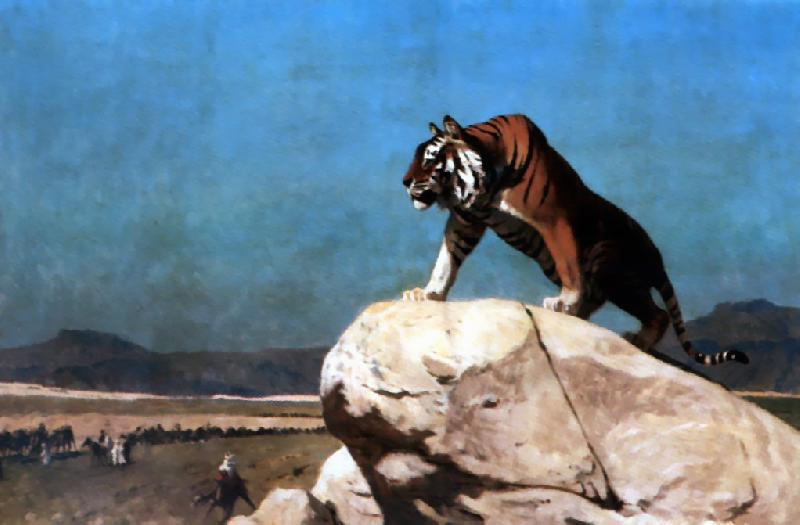 Jean Leon Gerome Tiger on the Watch oil painting image