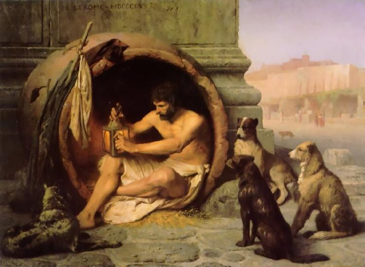 Jean Leon Gerome Diogenes oil painting image