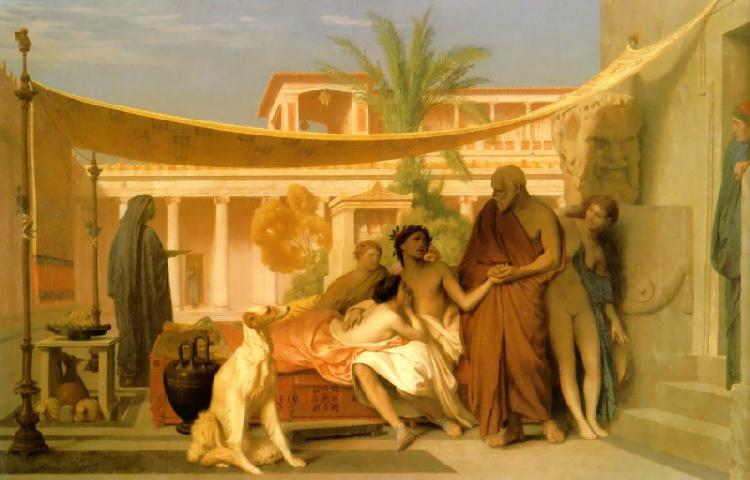 Jean Leon Gerome Socrates Seeking Alcibiades in the House of Aspasia oil painting image