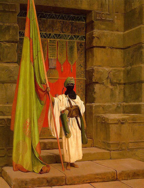 Jean Leon Gerome Unfolding the Holy Flag oil painting image