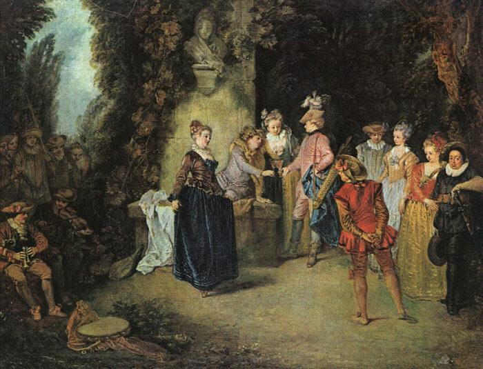 Jean-Antoine Watteau Love in the French Theatre oil painting image