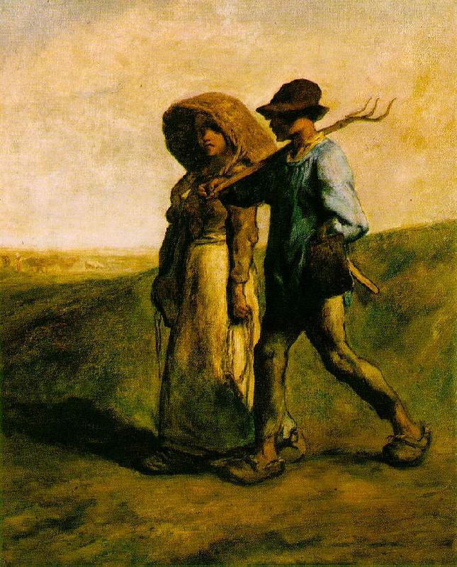 Jean-Franc Millet The Walk to Work oil painting image