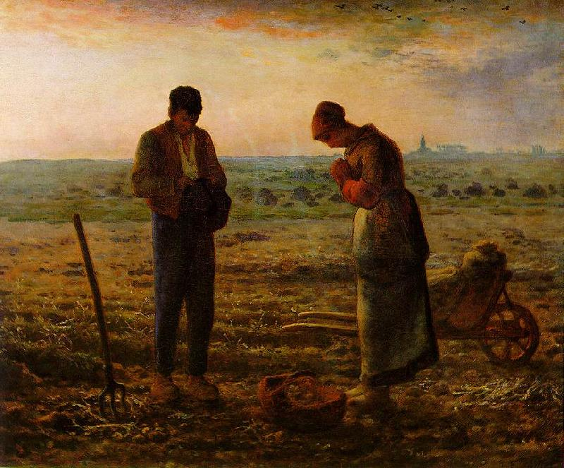 Jean-Franc Millet The Angelus oil painting image